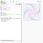 An image of Python Turtle with a script and visual design